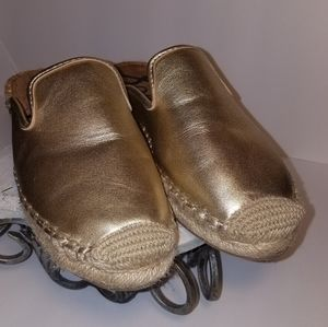 Sam Edelman Kerry Gold Espadrille Mule Sandals 7M